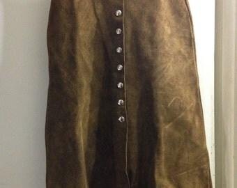 Vintage 70s suede skirt