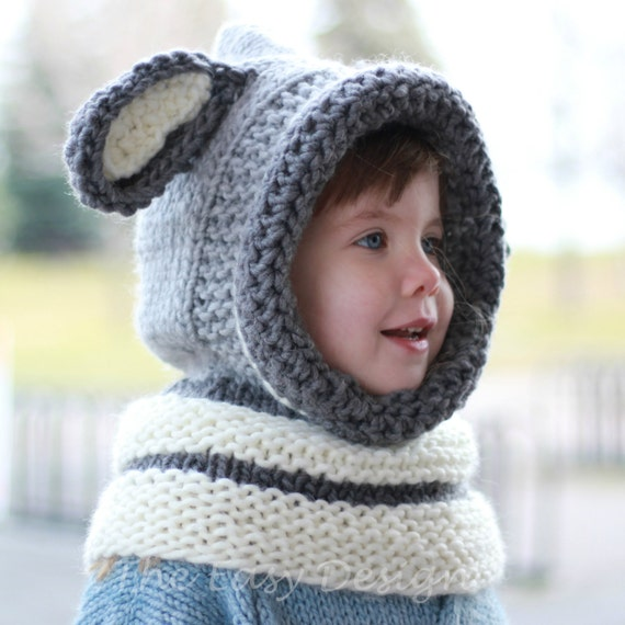 Knitting pattern, Patron tricot   David Dog Hooded Cowl Hood Neck warmer (12/...