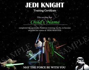 Custom Jedi Master Certificate