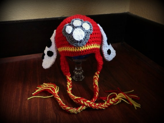 Marshall Paw Patrol Crochet Hat Pattern Free : Crochet Paw Patrol Marshall Hat by AccioHats on Etsy