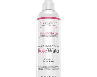 Facial Toner Moroccan Rose Water Toner Alcohol-FREE Rose Water Spray Toner 4oz