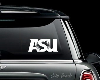 Arizona State University Decal, Bumper Sticker, Laptop Decal