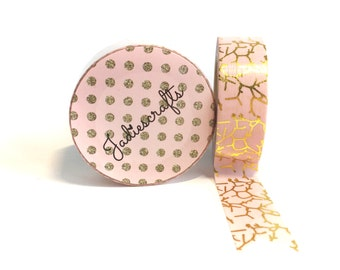 Anvil Crawlers Washi Tape | Pink and Gold Foil
