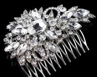 Silver Hair Comb Bridal Hair Accessories Bridal Hair Comb Wedding Hair Comb Bridal Hairpiece Bridal Hairwear