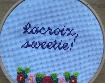 Absolutely Fabulous Lacroix Sweetie Cross Stitch, AbFab, Edina Monsoon