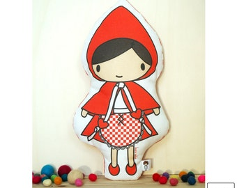 Little Red Riding Hood / doll / cushion / little red riding hood / soft toy / toy cushion / pillow toy / stuffed toy