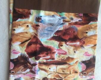 Horse Pillowcase, Horse, Standard Size Pillowcase, Kids Pillowcase, Horse Lovers Pillowcase, Handmade
