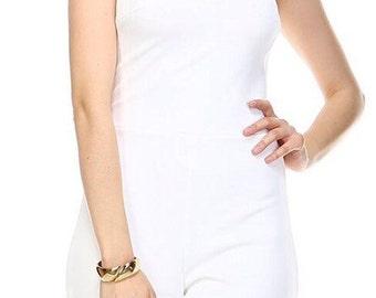 White romper, jumper, playsuit,women's clothing