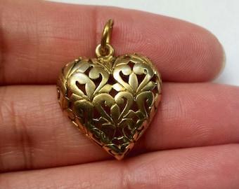 Vermeil Sterling Silver .925 Heart Pendant