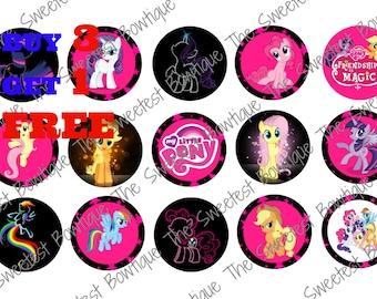 My Little Pony Bottle Cap Images, Buy 3 Get 1 Free of equal or lesser value