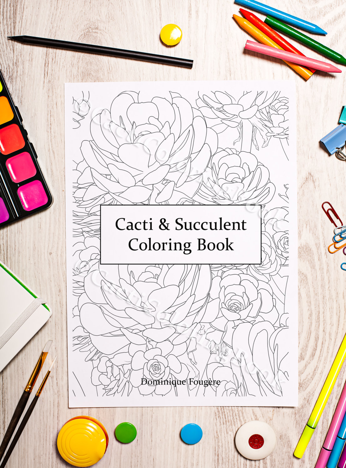 The coloring book e book - Cacti Succulent Coloring Book Digital Download Pdf