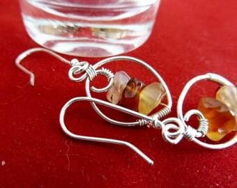 "Amber Earrings - ""Autumn Dawn"""