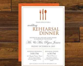 Wedding Rehearsal Dinner Invitation, Digital Download