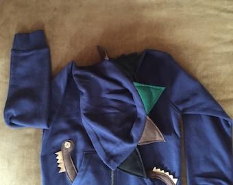 Blue Dinosaur hoodie