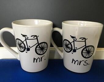 Mr. and Mrs. Bike mugs