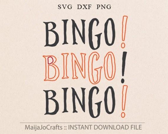 bingo svg vector file cricut downloads love bingo night svg