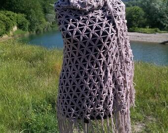 Wraps Shawls, gray-beige Shawl,Crochet Shawl, gray-beige Shrug, Shrug Shawl