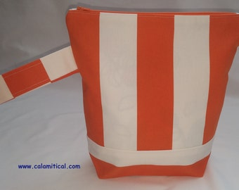 Orange and White Project Bag
