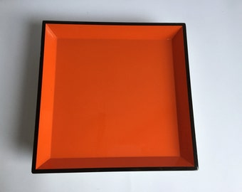 Orange/Yellow Reversible Lacquer Tray