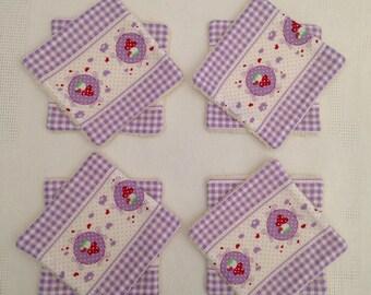 Set of 8 washable wipes