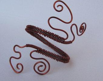 Dark copper bracelet