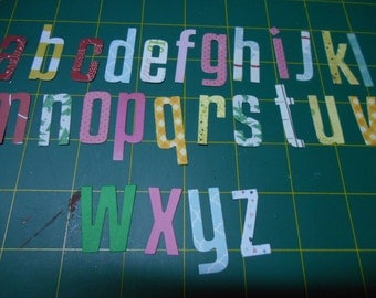 Handmade Die Cut Alphabet Letters cut from Quality Patterned Scrapbooking Paper