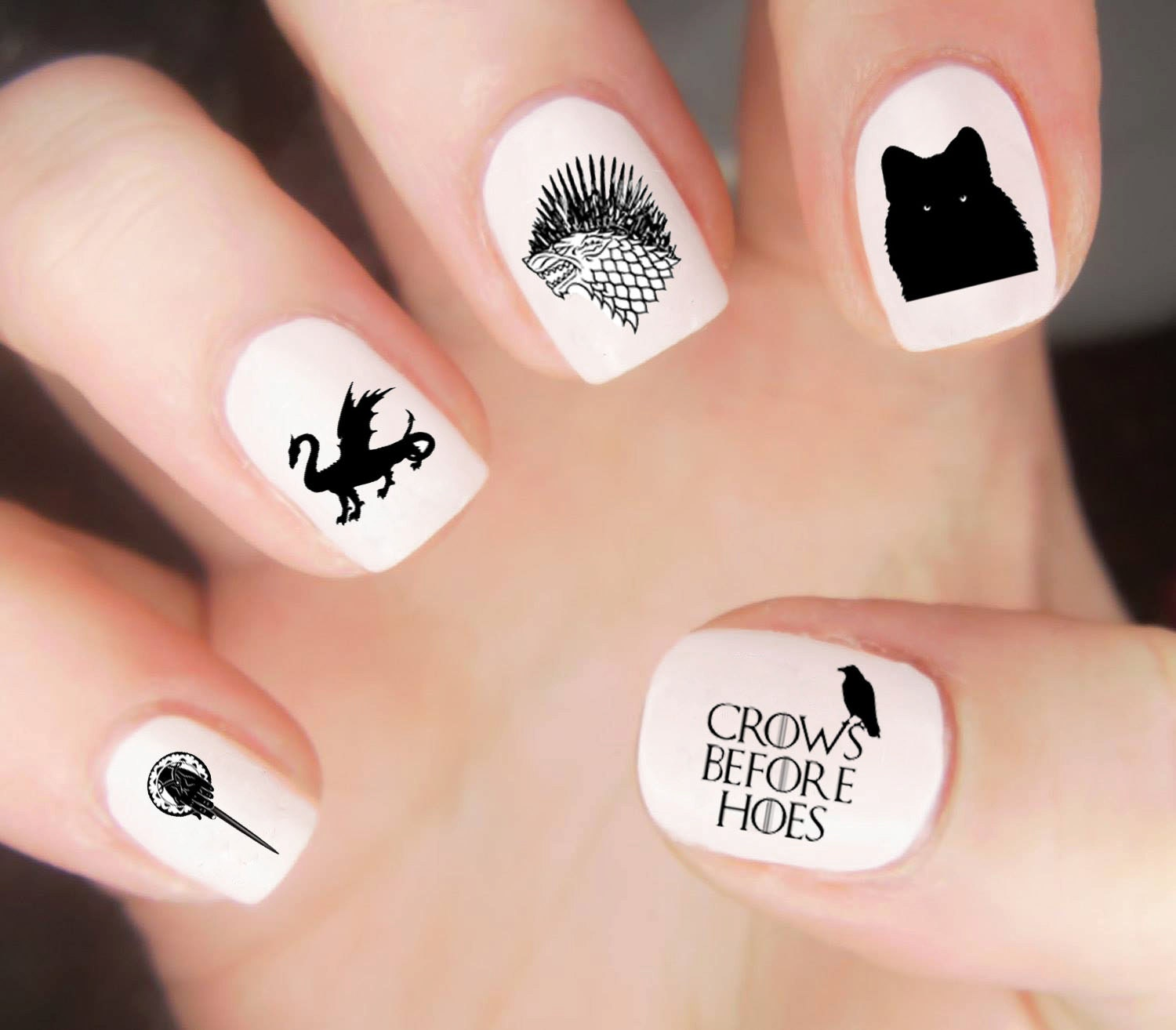 Game of thrones nail decals game of thrones nails game of 599 prinsesfo Gallery