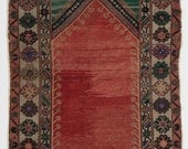 """3.5x6.1 Ft Vintage Anatolian Rug. One of a kind Handmade Wool carpet.  G74 - RESERVED for """"AmelieAPoulain"""""""