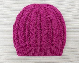 "Instant Download Knitting Pattern Hat ""Jasmin"""