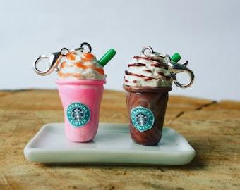Planner Charm, Starbucks charm, Frappuccino charm, Kawaii Charm, Coffee charm, Polymer clay charm, TN planner Charm, food Charm, cute charm
