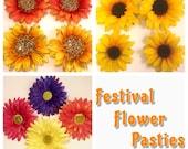Festival Flower Pasties Sunflower Daisy Carnation
