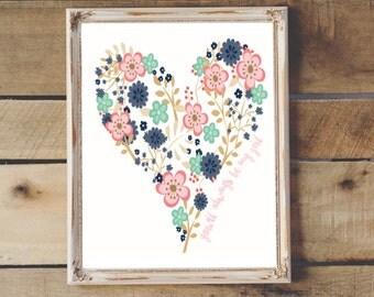 You'll Always be my Little Girl Children's Printable Wall Art