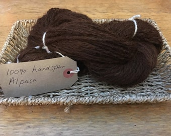 Handspun 100% Alpaca Yarn - Sourcedand made in the UK.