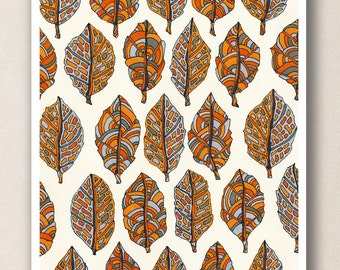 A4 Print Autumn Leaves