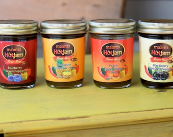 ma'ams Hot Jam 4 pack - 8 oz