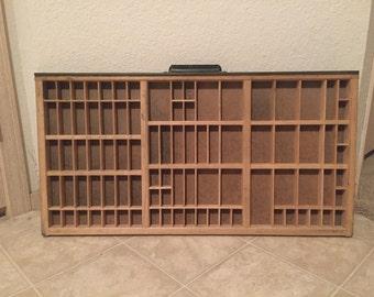 Vintage Letterpress Printers Tray Shadowbox