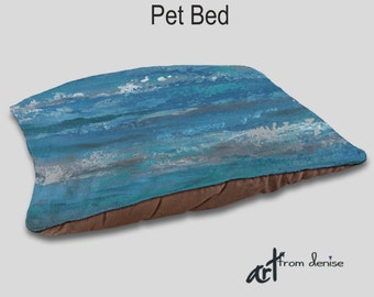 Designer dog bed, Pet bed, Teal turquoise blue gray, Decorative, Home decor, Upscale beds, Pet pillows, Cushion, Cat bed, Animal beds