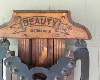 Vintage Beauty Clothes Dryer Antique Clothes Drier Beauty Clothes Drier Wooden Clothes Drier Farmhouse Antique