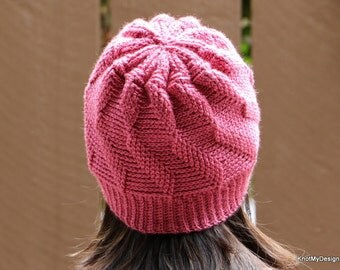 Crochet 2-Layer Twisted Hat