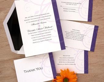 Ravishing Wedding Invitation Set - Digital Invitation Suite - Digital Wedding Invite - Custom Wedding Invitations - AV1390