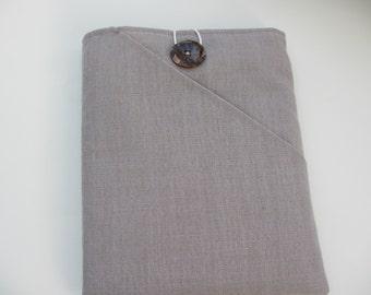 Oatmeal linen iPad case, fabric iPad cover, iPad air sleeve, iPad pro 9.7 case, fabric reader sleeve, iPad  2 sleeve, fabric tablet cover