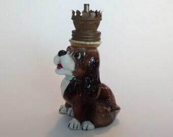 Vintage Dog Oil Lamp