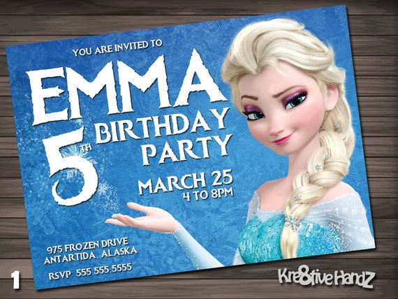 Frozen birthday invitation - personalized printable disney invite for any age girls or boys birthday party - includes free thank you card