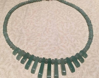 Aventurine Fan Necklace