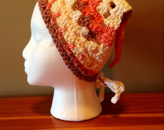 Crochet Kerchief, Hair Bandana