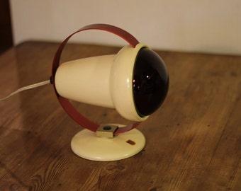 Philips Infraphil 7529 vintage infrared lamp retro Charlotte Perriand design heat lamp 1950s 50's