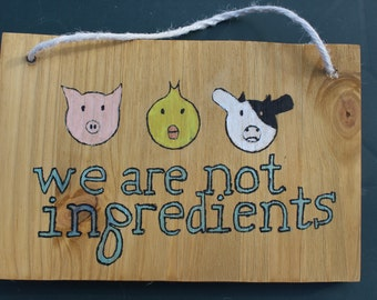 We are not ingredients