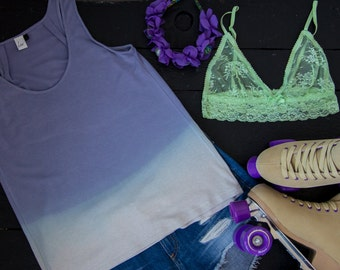 "Ladies tank top ""Lilac Ombre"""