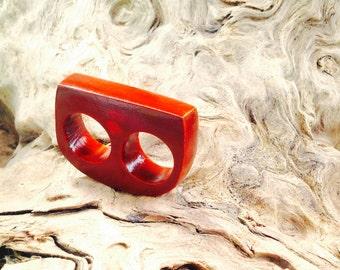 Double Finger Driftwood Ring