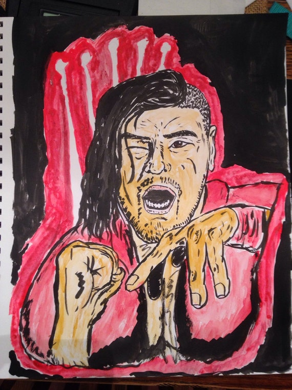 Shinsuke Nakamura original art piece